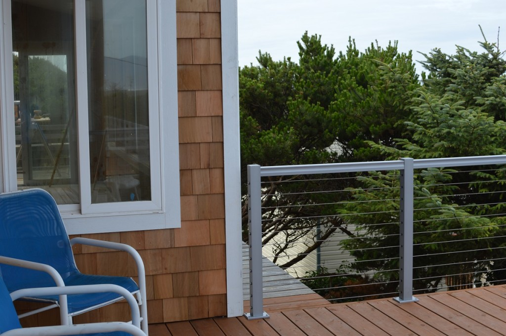 Jlt adds contemporary deck railing to this home